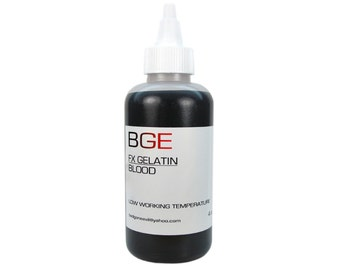 BGE Blood Special FX Gelatin for prosthetic scars and skin fx.