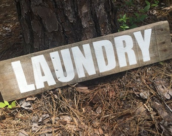 Laundry sign, laundry room sign, laundry pallet sign
