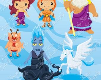Greek Mythology clipart, mythology, Greece, Greek God, Greek Goddess, Zeus, Hades, Hercules, Pegasus, Olympian -LN0137-