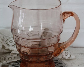 Pink Glass Water Jug