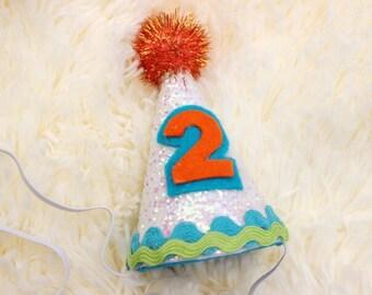 Mini Birthday Party Hat. Birthday - Cake Smash - Photo Prop.