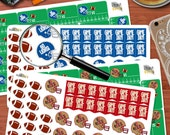 NFL Inspired Football Stickers CUSTOMIZED to Your Team! Perfect for your Erin Condren Life Planner!
