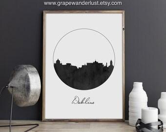 Personalised Wedding Gifts Dublin : Dublin art, Dublin skyline, Dublin poster, Dublin print, Ireland ...
