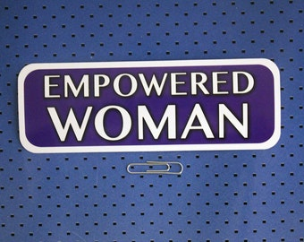 Empowered Woman Small Bumper Sticker