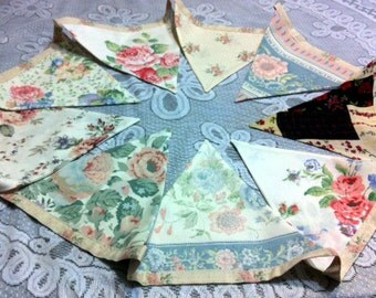 Vintage Floral Bunting (small)