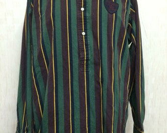 Vintage Polo Ralph Lauren RL Patch Half Button Shirt