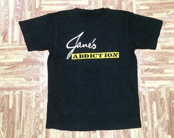 Rare vintage early 90s JANE'S ADDICTION Band T Shirt