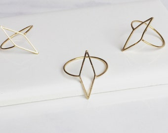 Gold Geometry Ring