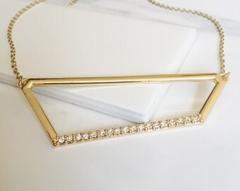 Geometric Pave Necklace