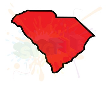 South Carolina SVG Files for Cutting State Cricut SC Designs - SVG Files for Silhouette - Instant Download