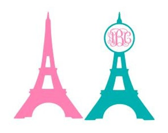 Eiffel Tower SVG, Studio 3, DXF, AI, Ps and Pdf Cutting Files for Electronic Cutting Machines