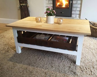 Rustic coffee table, coffee table, shabby chic table, handcrafted table