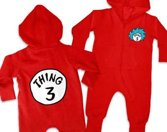 Thing 3 Costume baby onesie