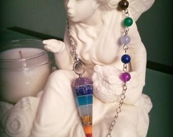 7 Stone Chakra Pendulum/Necklace