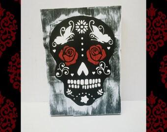 sugar skull skull day of the dead sign