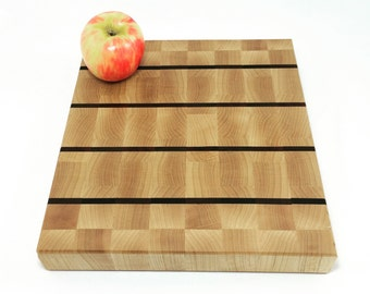 End Grain Butcher Block Cutting Board - Cheese Board- Unisex Gift - Cook Gift - Retro Kitchen Decor - Anniversary - Gift for Her