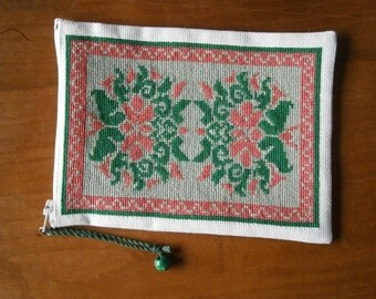 small pouch reproduction of Tibetan rug