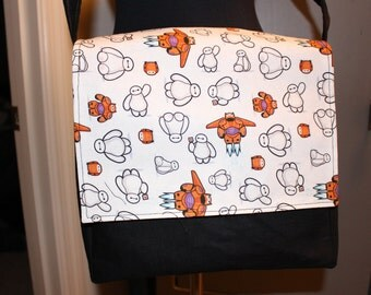 Baymax inspired purse messenger bag