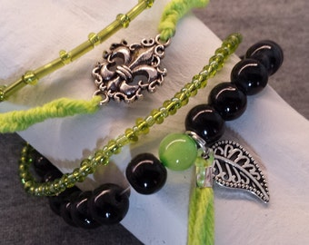 Green/Black bracelet set