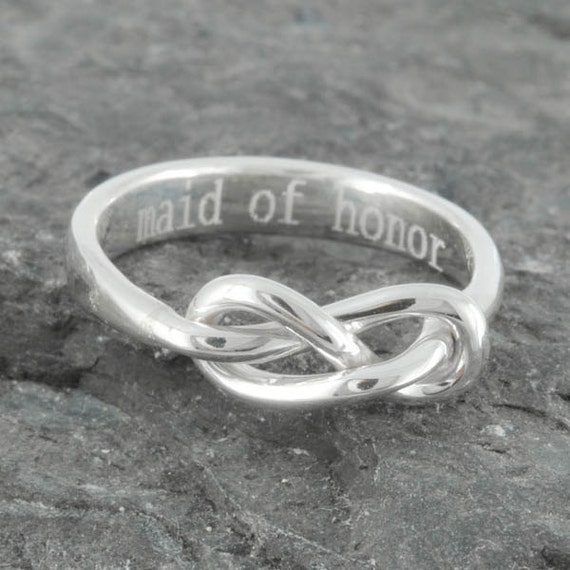Infinity Ring Maid Of Honor Best Friend Promise