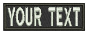 3 inches personalized custom embroidered velcro name tapes. Black Bedroom Furniture Sets. Home Design Ideas