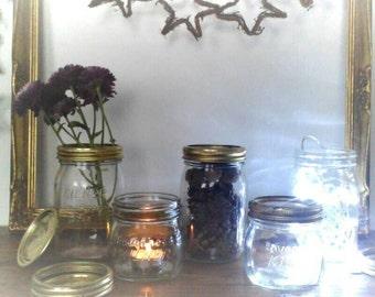 Vintage Kilner Jars, Craft Storage, Decoration, Candle Holder,  Glass Vase, Wedding Prop