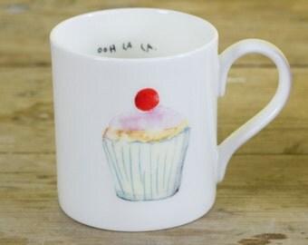 Ooh La La Cupcake Fine Bone China Mug