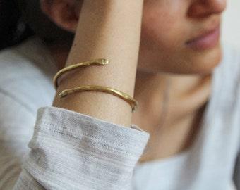 Golden protective hand bangle