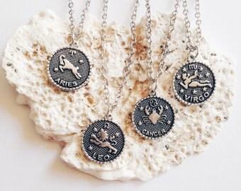 Zodiac | Star Sign Necklace | Aries, Virgo, Cancer, Aquarius, Capricorn, Scorpio, Leo, Libra, Pisces, Gemini, Taurus, Sagittarius