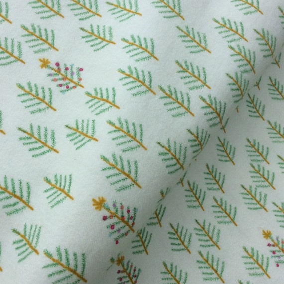 Cotton and Steel - Flannel Brushed Cotton - Tinsel - Christmas Forest White