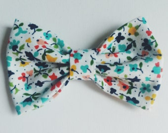 Floral Bow Tie - Baby // Toddler // Child - Clip On