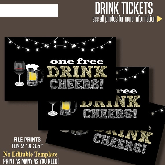 complimentary drink ticket template - printable free drink tickets drink tickets 3 5 x