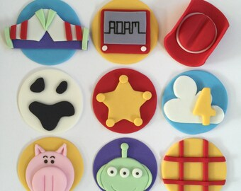 12 Toy Story Cupcake Toppers-Fondant
