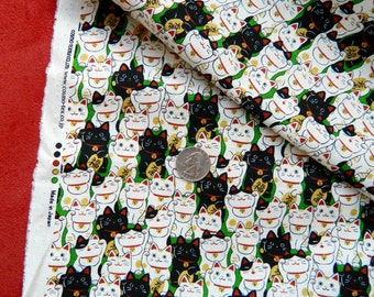Lucky Cats By Cosmo Fabrics Japan
