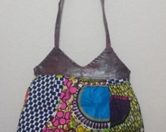 Ankara/Dashiki Patch Bag