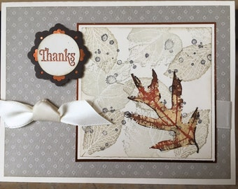 Handmade Thank You Greeting Card