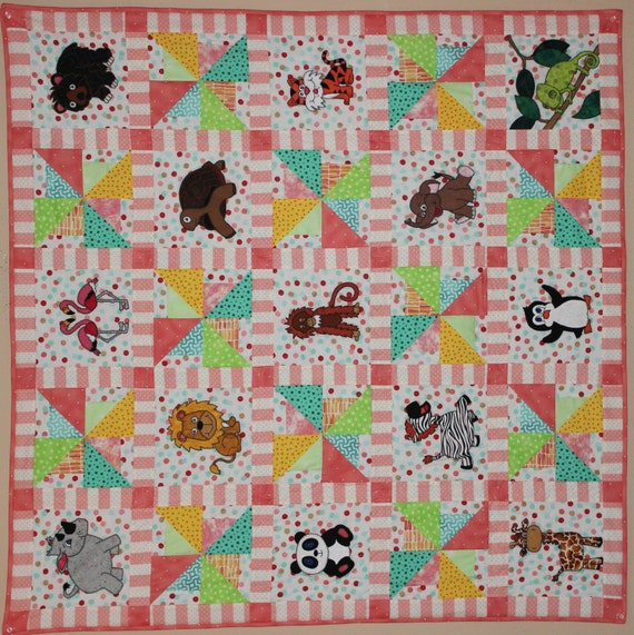 Asian Elephant Pdf Applique Pattern Baby Quilt Pattern