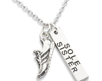 Running Necklace,  Running Jewelry, SOLE SISTER