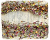 15% OFF SALE - Gardens of Tuscany Pip Berry Garland, Italian Table Pip Berry Garland, Primitive Garlands, Berry Garland, Pip Berry