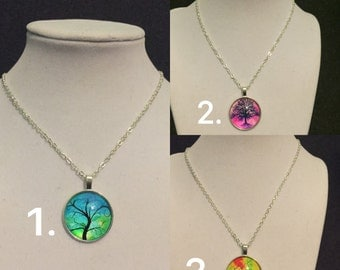 Tree Pendant Necklaces