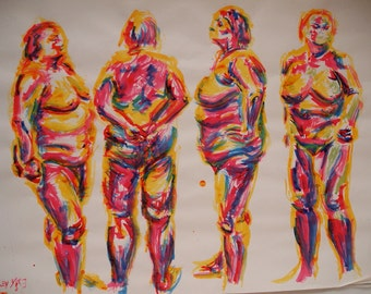 Life Drawing Four Sides