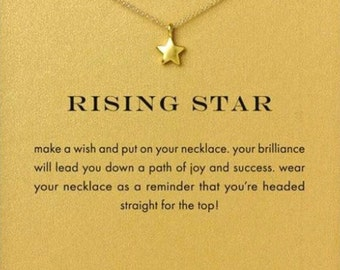 50% OFF Gold Star Necklace w/ RISING STAR Card