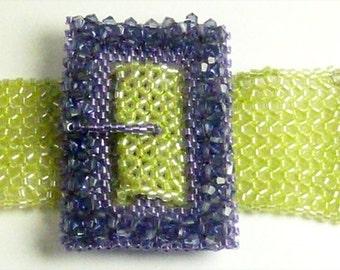 All Buckled Up Bracelet Kit - Lavender and Celery