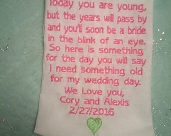 Personalized flower girl handkerchief