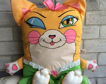 Vintage 1980s Pillow People, Pillow People, Pillow people Cat, Pillow People Cat