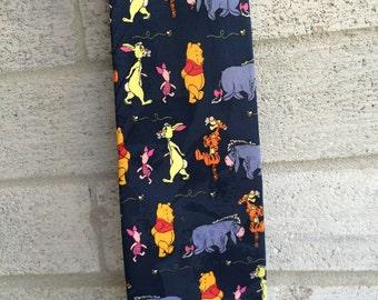 Winnie the Pooh Neck tie, Winnie Pooh Necktie, Tigger, Eeyore, Rabbit