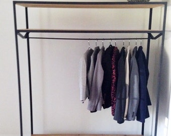 handmade clothing rack of oak wood || Handmade Clothes rack