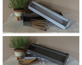 Vintage Metal Tool Box Trays / Vintage Metal Trays / Metal Tray Centerpiece / Tool Caddy / Metal Toolbox Tray / Vintage Metal Caddy