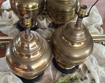 Pair of Hollywood Regency Vintage Lamps / Vintage Brass Lamps / Vintage Lamps Pair/ Gold Pair of Lamps / Lamps Vintage Brass