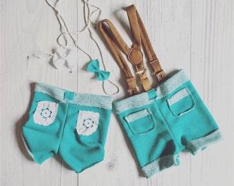 cod 444Newborn Twins Suspenders Romper Set, Baby Girl and boy, Newborn Clothing,  Headband, jersay, Accessories, Photography Prop
